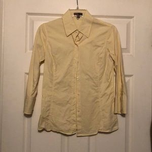 Forever 21 yellow button up size medium